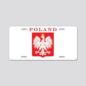 Poland Eagle Red Shield Aluminum License Plate