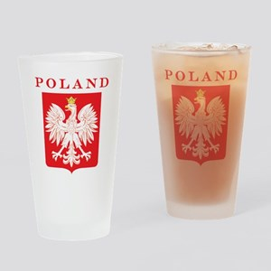 Poland Eagle Red Shield Drinking Glass