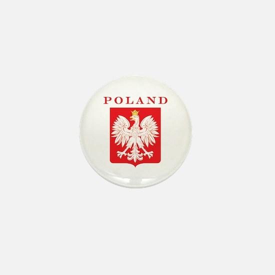 Poland Eagle Red Shield Mini Button
