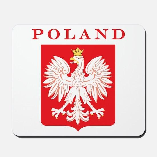Poland Eagle Red Shield Mousepad