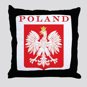 Poland Eagle Red Shield Throw Pillow