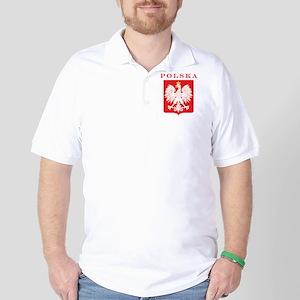 Polska Eagle Red Shield Golf Shirt