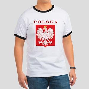 Polska Eagle Red Shield Ringer T