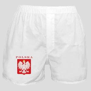 Polska Eagle Red Shield Boxer Shorts