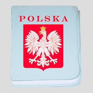 Polska Eagle Red Shield baby blanket