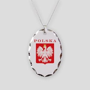 Polska Eagle Red Shield Necklace Oval Charm