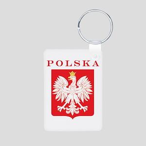 Polska Eagle Red Shield Aluminum Photo Keychain