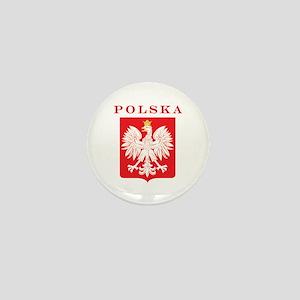 Polska Eagle Red Shield Mini Button