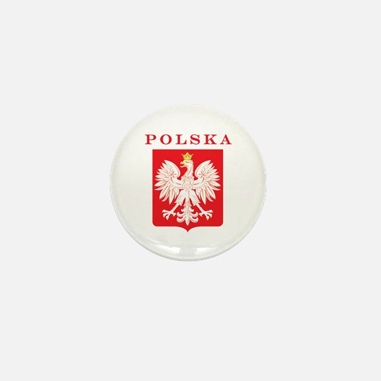 Polska Eagle Red Shield Mini Button