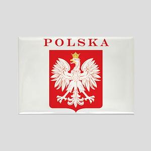 Polska Eagle Red Shield Rectangle Magnet