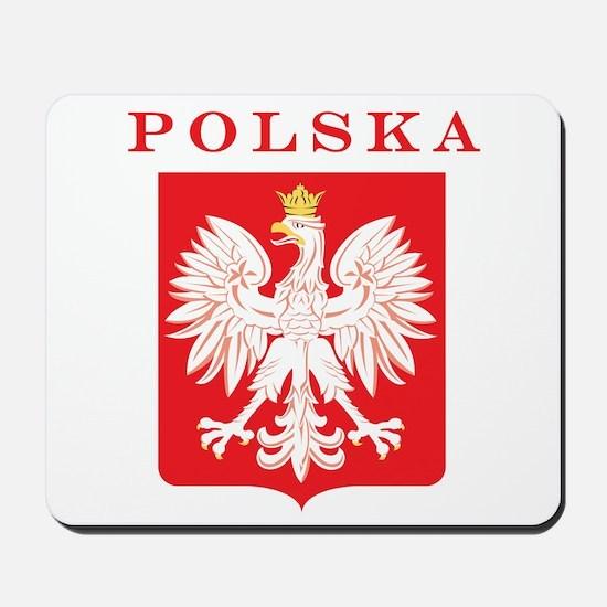 Polska Eagle Red Shield Mousepad