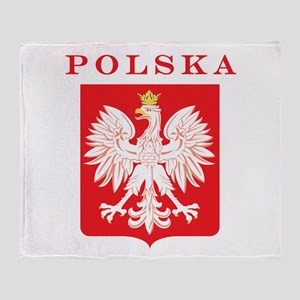 Polska Eagle Red Shield Throw Blanket