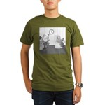 Holidays (no text) Organic Men's T-Shirt (dark)