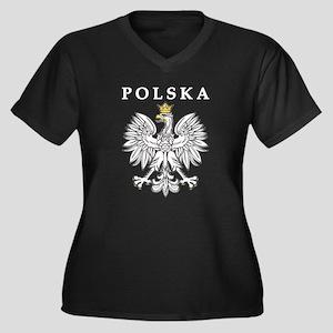 Polska With Polish Eagle Women's Plus Size V-Neck