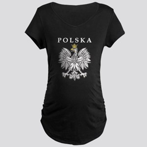 Polska With Polish Eagle Maternity Dark T-Shirt