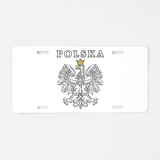 Polska With Polish Eagle Aluminum License Plate