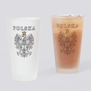 Polska With Polish Eagle Drinking Glass