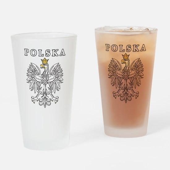 Polska With Polish Eagle Drinking Glass