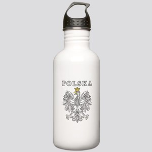 Polska With Polish Eagle Stainless Water Bottle 1.