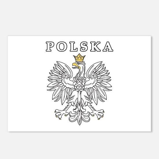 Polska With Polish Eagle Postcards (Package of 8)