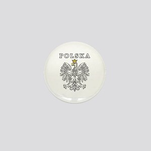 Polska With Polish Eagle Mini Button