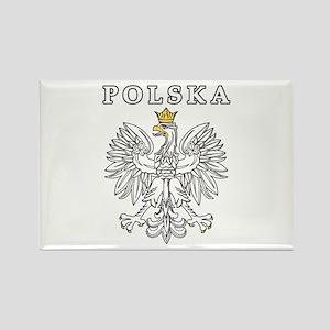 Polska With Polish Eagle Rectangle Magnet