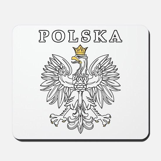 Polska With Polish Eagle Mousepad