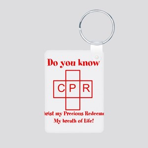 CPR Aluminum Photo Keychain