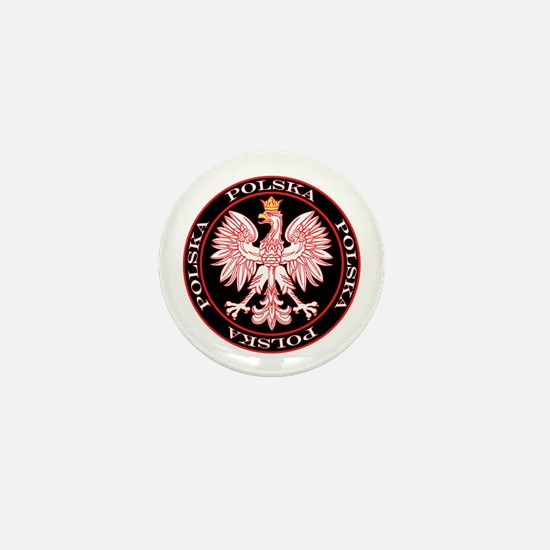 Round Polska Eagle Mini Button
