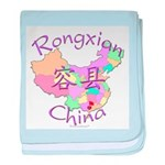 Rongxian China Map baby blanket