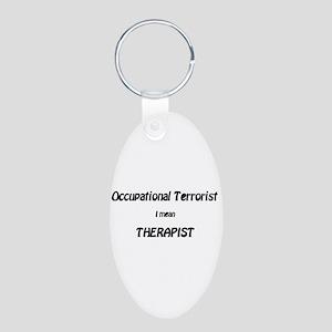 Occupationa Terrorist Shirts Aluminum Oval Keychai