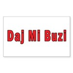 Daj Mi Buzi - Give me a Kiss Sticker (Rectangle 50