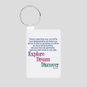 Mark Twain Aluminum Keychain (2-sided)
