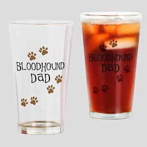 Bloodhound Dad Drinking Glass