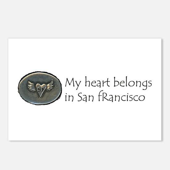 My Heart Belongs in SF Postcards (Package of 8)