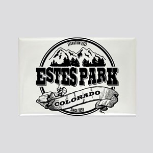 Estes Park Old Circle Rectangle Magnet