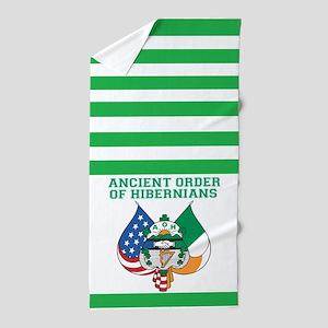 Aoh Green Lines Beach Towel