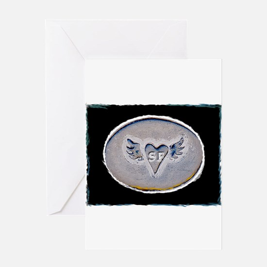 Winged Heart SF Greeting Card