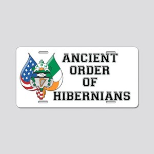 Ancient Order Of Hibernians Aluminum License Plate