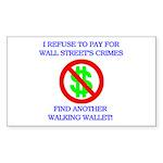 Walking Wallet Sticker (Rectangle)