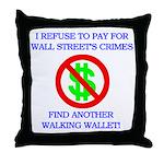 Walking Wallet Throw Pillow