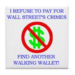 Walking Wallet Tile Coaster