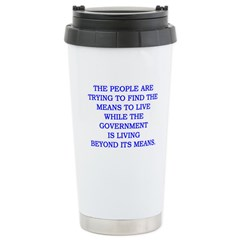 living and means Stainless Steel Travel Mug