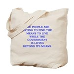 living and means Tote Bag