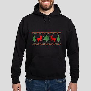 Ugly Christmas Sweater Hoodie (dark)