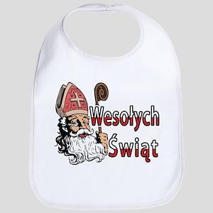 Wesolych Swiat St. Nicholas Bib
