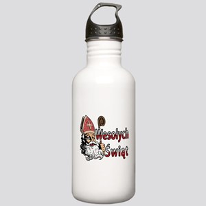 Wesolych Swiat St. Nicholas Stainless Water Bottle