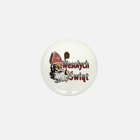 Wesolych Swiat St. Nicholas Mini Button
