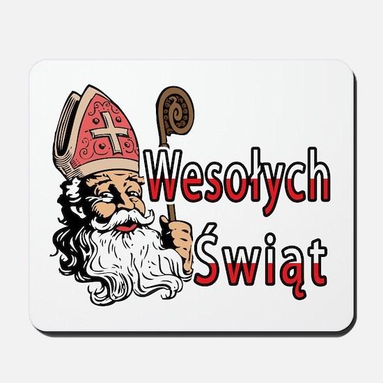 Wesolych Swiat St. Nicholas Mousepad