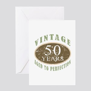 Vintage 50th Birthday Greeting Card
